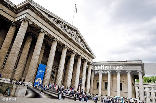 Entrance to British Museum in London, England