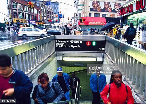 Entrance to Bronx Subway Station