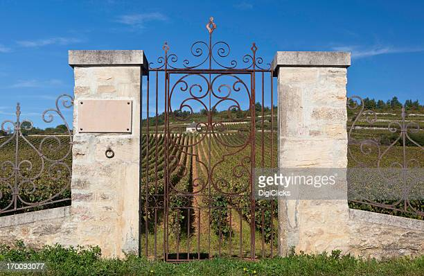 Entrance to Burgundy Vineyard