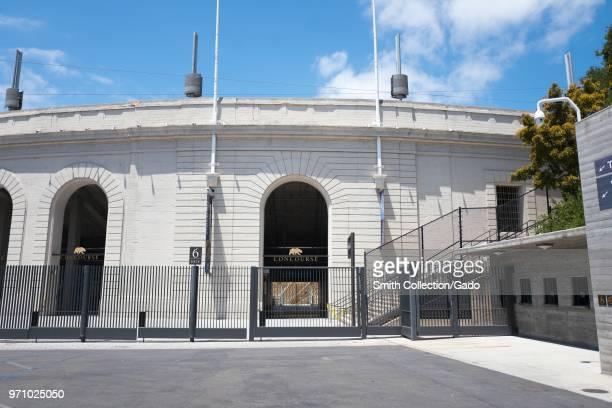 Entrance to California Memorial Stadium at UC Berkeley in Berkeley, California, the home of the Cal State Bears football team, May 31, 2018.