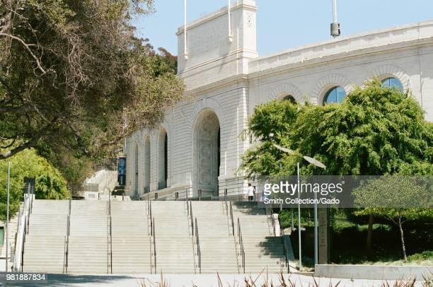 Entrance to California Memorial Stadium in the Berkeley Hills, on the campus of UC Berkeley in downtown Berkeley, California, May 21, 2018.
