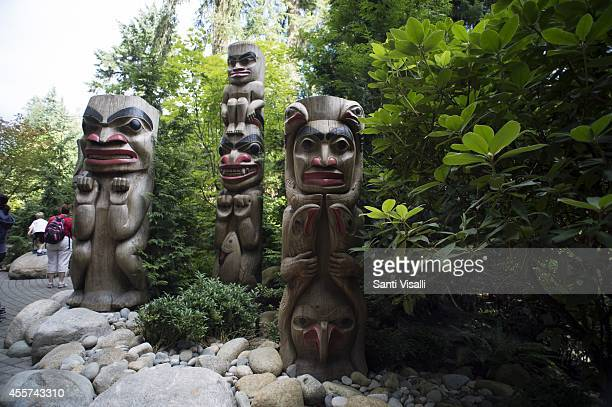 Entrance to Capilano Suspension Bridge on August 31 2014 in Vancouver British Columbia Canada