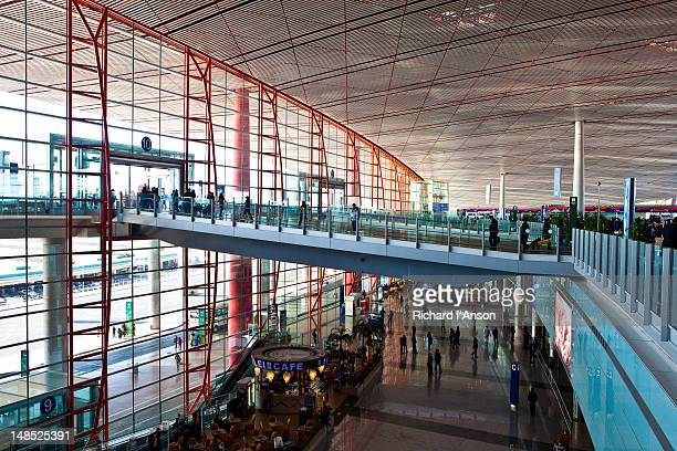 Entrance to departures hall at Beijing Capital Airport.