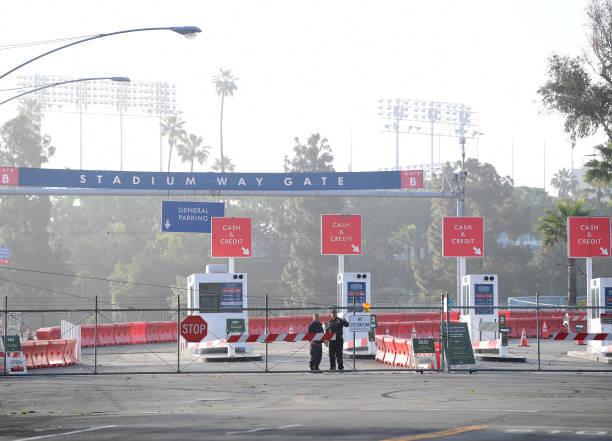 CA: Drive-Thru Coronavirus Testing Opens At Dodger Stadium In Los Angeles