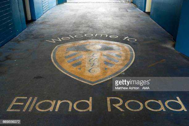 Entrance to Elland Road the home stadium of Leeds United during the Sky Bet Championship match between Leeds United and Wolverhampton Wanderers at...