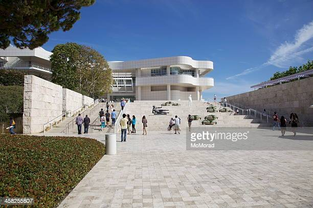 entrance to getty centre, los angeles - j. paul getty museum stock pictures, royalty-free photos & images