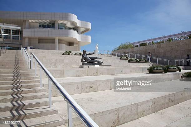ingresso al getty center los angeles - j. paul getty museum foto e immagini stock