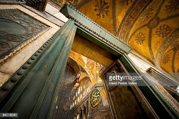 entrance to hagia sophia - hagia sophia stock pictures, royalty-free photos & images