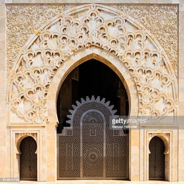 Entrance to Hassan II Mosque in Casablanca