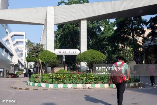ハイテック シティ、ハイデラバード、インドへの入り口 - ハイデラバード ストックフォトと画像
