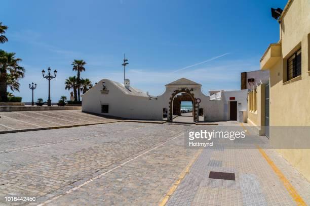 Entrance to La Caleta, popular beach in Cadiz, Spain