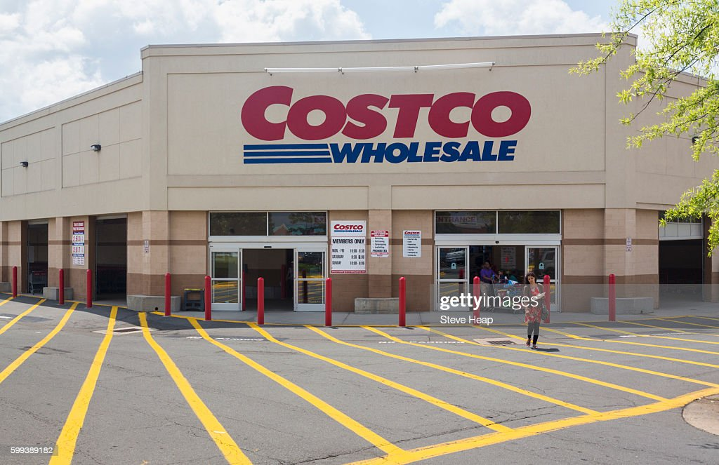dcd769ff5d Entrance To Large Costco Warehouse Superstore In Manassas Virginia ...