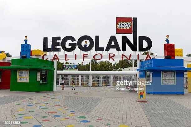 Entrance to Legoland California theme park next to North America's first ever Legoland Hotel at Legoland on September 17 2013 in Carlsbad California...