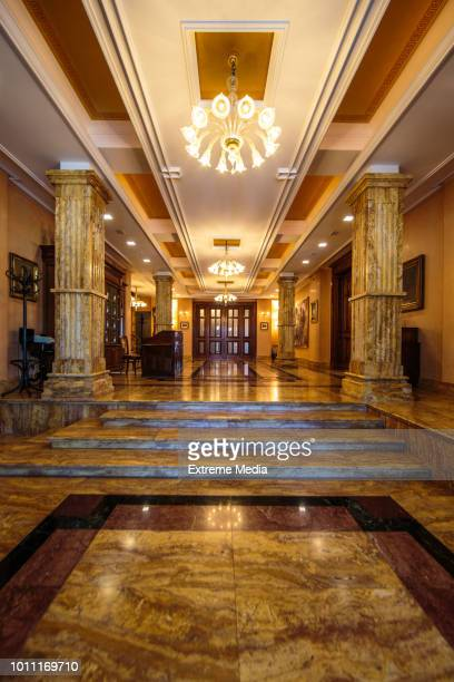 entrance to luxury lobby - baroque stock pictures, royalty-free photos & images