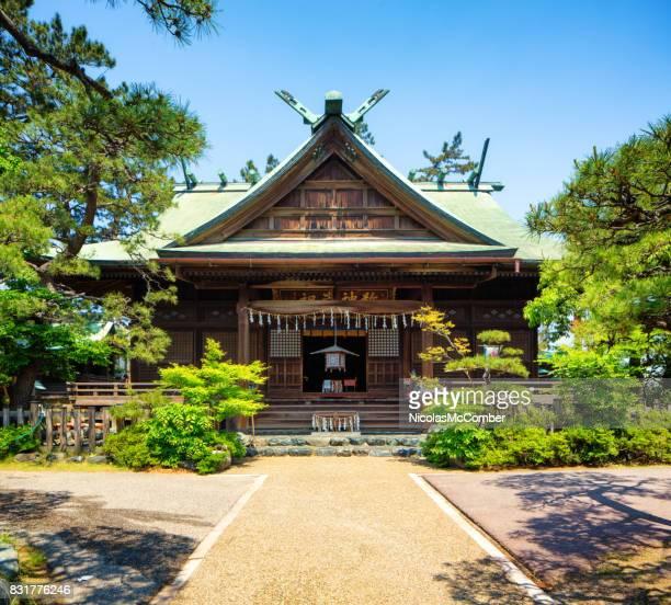 Entrance to Niigatadai Shrine in Niigata Japan