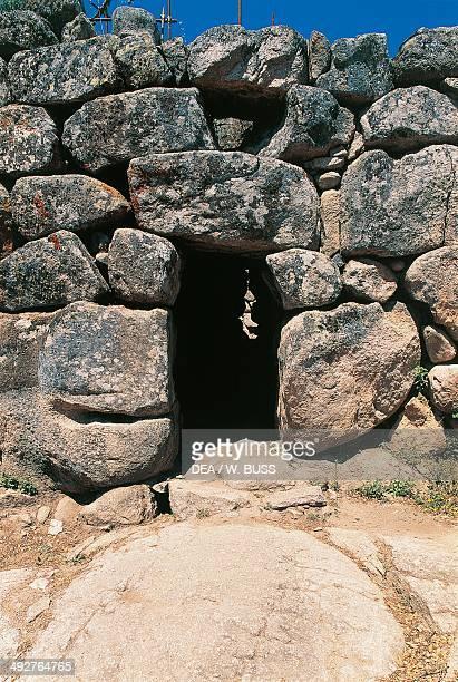 Entrance to Nuraghe Maiori 2nd millennium BC Tempio Pausania Sardinia Italy