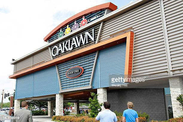 Entrance to Oaklawn Park during the Racing Festival of The South on April 14 2012 in Hot Springs Arkansas