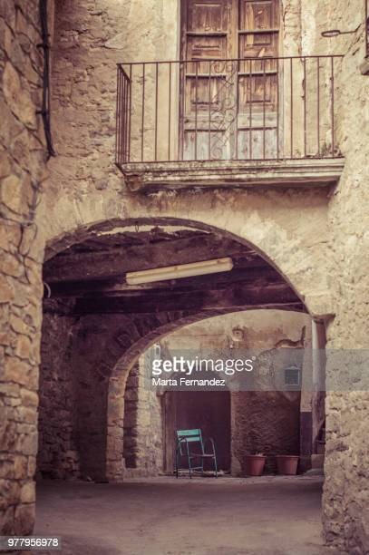 Entrance to old building, Catalonia, Spain