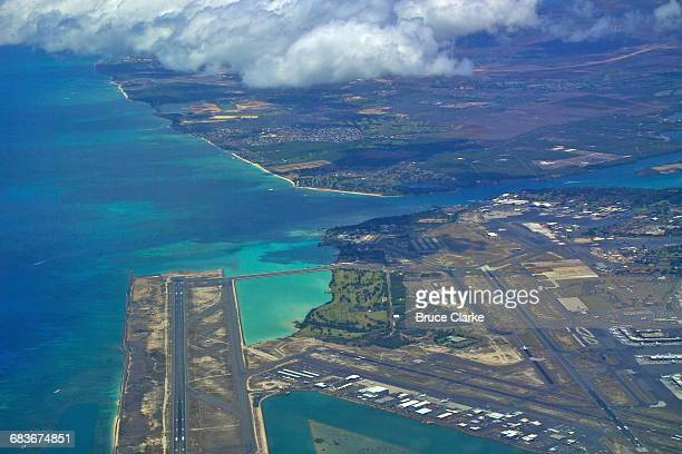 Entrance to Pearl Harbor and Honolulu Intl.