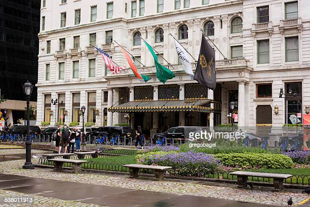 Entrance to Plaza Hotel of Manhattan in New York City