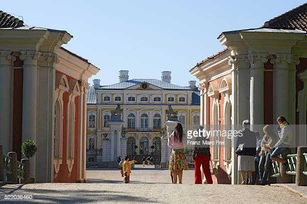 Entrance to Rundale Palace in Latvia