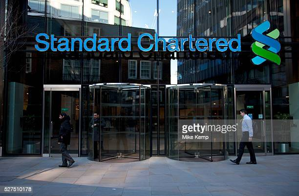 Entrance to Standard Chartered Bank in the City of London Standard Chartered PLC is a multinational financial services company headquartered in...