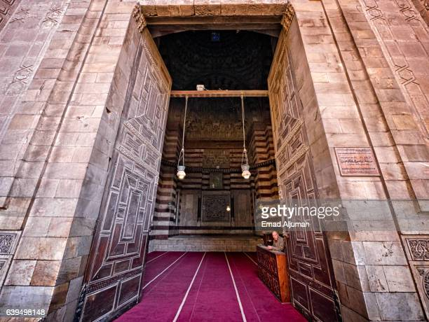 Entrance to Sultan Hassan Mosque and Madrasa, Cairo, Al Qahirah, Egypt