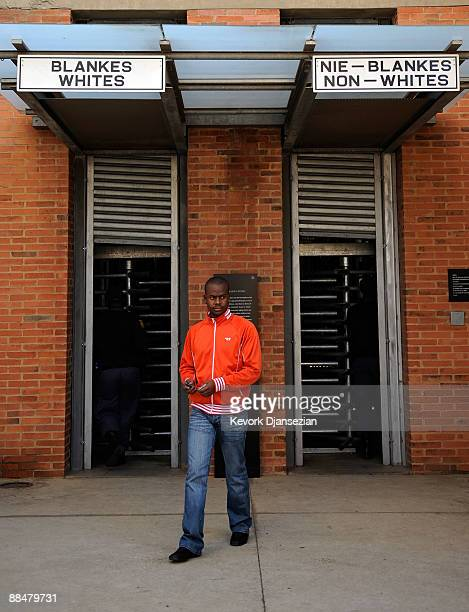 Entrance to the Apartheid Museum is seen on June 13 2009 in Johannesburg South Africa