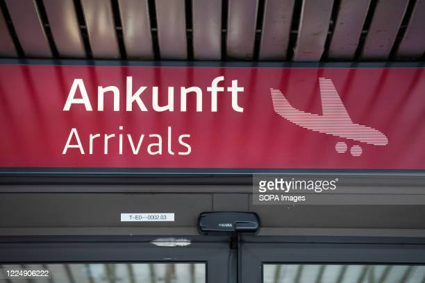 Entrance to the arrivals area at Schoenefeld Airport . Berlin Schoenefeld Airport is the secondary international airport of Berlin, located 18 km...
