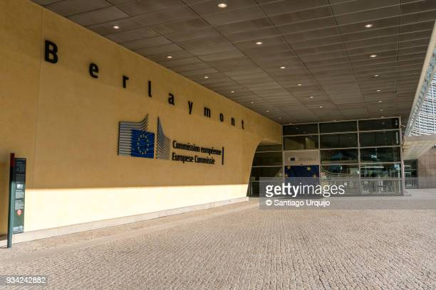 Entrance to the Berlaymont building of the European Commission