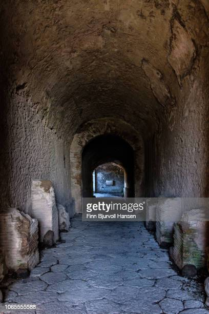 entrance to the big amfi teatro in the city of pompeii italy - finn bjurvoll stock pictures, royalty-free photos & images