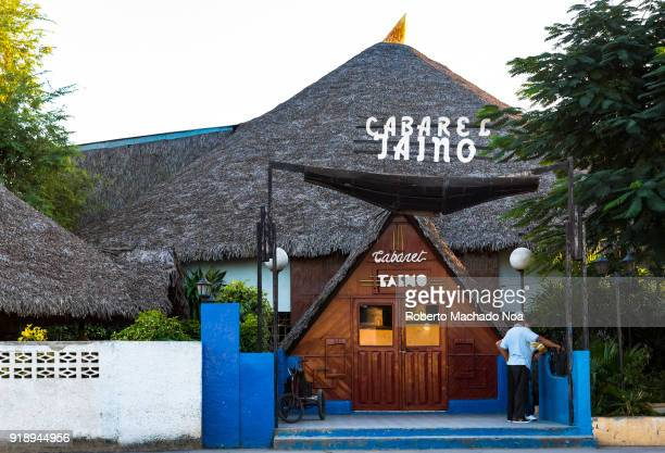 Entrance to the Cabaret Taino The thatched recreation facility is very popular in the city