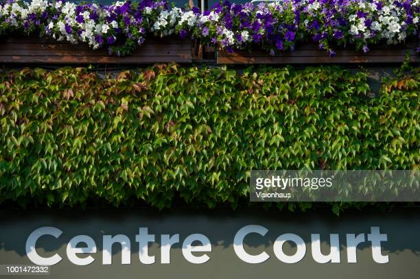 Entrance to the Centre Court on day twelve of the Wimbledon Lawn Tennis Championships at the All England Lawn Tennis and Croquet Club on July 14 2018...