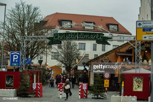 Entrance to the Christmas Market Christmas Market in Ingolstadt known for producing Audi