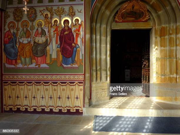 Entrance to the church of Putna, Romania