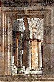 Entrance to the Church of Saint Simeon Stylites, Syria.
