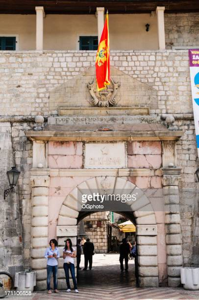 entrance to the city of kotor, montenegro - ogphoto stock photos and pictures