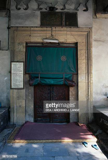 Entrance to the former Church of the Saints Sergius and Bacchus converted into the Kucuk Ayasofya Camii mosque in the 16th century Istanbul Turchia