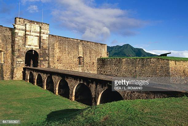Entrance to the Fort Louis Delgres or Fort SaintCharles 17th century BasseTerre Guadeloupe Overseas department of the French Republic Lesser Antilles