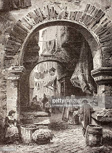 Entrance To The Ghetto In Rome In The 19Th Century From El Mundo Ilustrado Published Barcelona Circa 1880