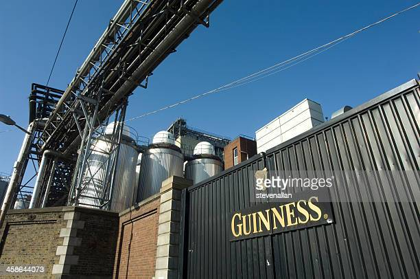 entrance to the guinness factory in dublin ireland - guinness stock photos and pictures