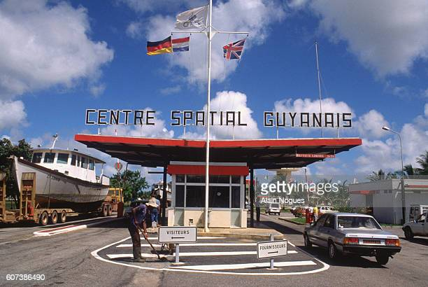 Entrance to the Guyana Launch Site