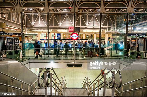 entrance to the london underground in the uk - paddington london stock pictures, royalty-free photos & images
