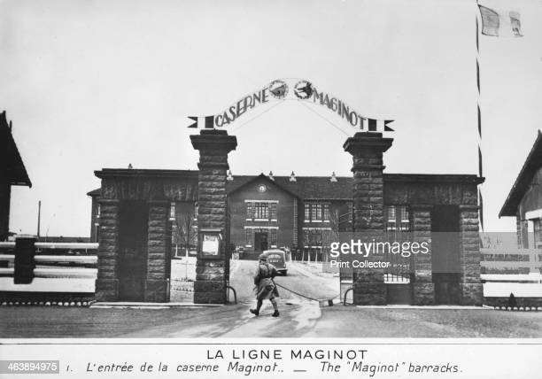 Entrance to the Maginot barracks Maginot Line France c19351940 Conceived by Andre Maginot as an impegnable wall on France's eastern frontier the...