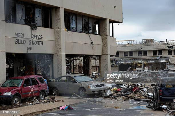 Entrance to the main hospital in Moore, following the tornado that devastated the city on 5-20-13.
