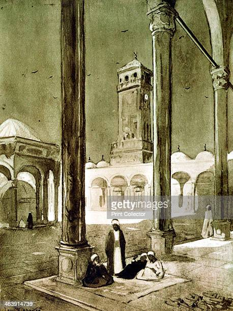 Entrance to the Muhammad Ali Mosque Cairo Egypt 1928 The mosque was built by the Viceroy of Egypt Muhammad Ali between 1830 and 1848 Published in...