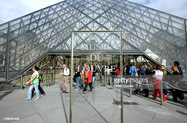 Entrance to the Musee du Louvre.
