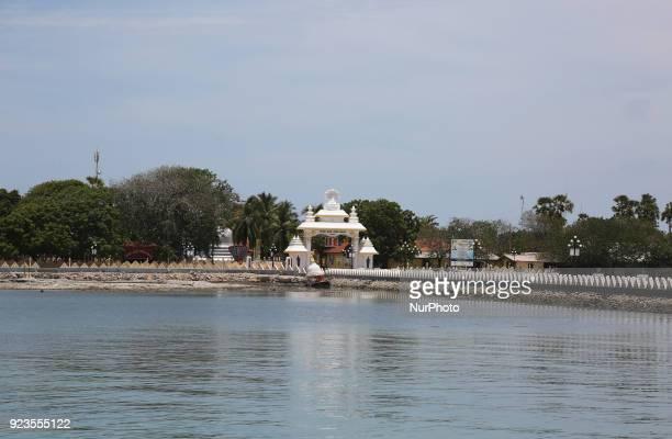 Entrance to the Nagadipa Vihara on Nainativu Island in the Jaffna region of Sri Lanka