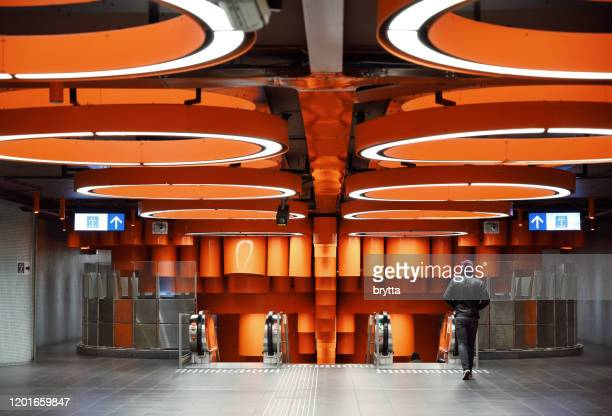 entrance to the pannenhuis metro in brussels,belgium - laeken stock pictures, royalty-free photos & images