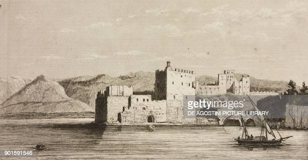Entrance to the port of Beirut Lebanon engraving by Lemaitre from Syrie ancienne et moderne by Jean Yanosky and Jules David L'Univers pittoresque...